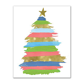 Colorful Christmas Canvas, Tree