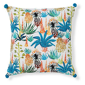 Blakely Pillow 18in Blue Palm