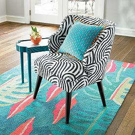 Iris Apfel Black and White Chair