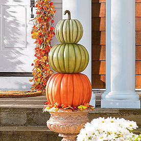 Three-Stack Pumpkin Topiary