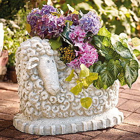 Sitting Sheep Planter