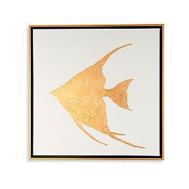 Golden Sea Life Angler I Artwork