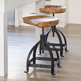 Tractor Swivel Adjustable Counter Stool