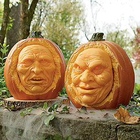 Animated Interactive Jack-O-Lanterns, Set of Two
