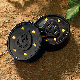 Battery-operated Halloween Strobe Disks, Set of Two