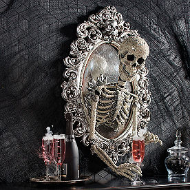 Sorceress Skull Framed Mirror