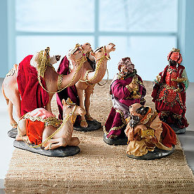 Nativity Kings and Camels, Set of Six