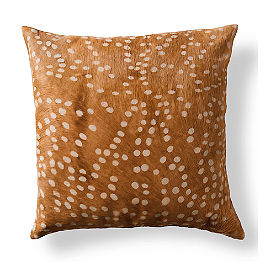 Spotted Natural Hide Throw Pillow