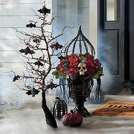 Pre-Lit 4-ft. Eerie Bat Tree