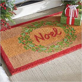 Noel Wreath Coir Doormat