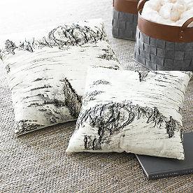 Birch Print Throw Pillow