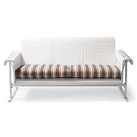 Two-piece Retro Perfectly Suited Sofa Glider Cushion