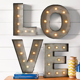 LOVE Light Up Letters Sign