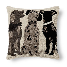 Three Dogs Throw Pillow