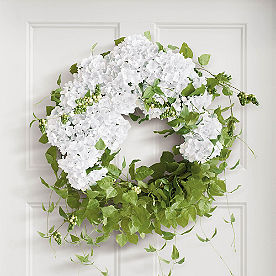 Haley White Hydrangea Wreath