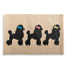 Dogs with Bows Mat