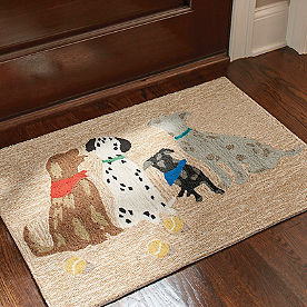 Dogs with Scarves Mat