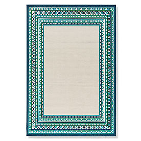 Tortola Cream Border Outdoor Rug
