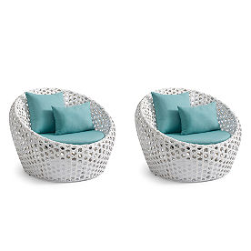 Mason Cocoon Chairs, Set of Two