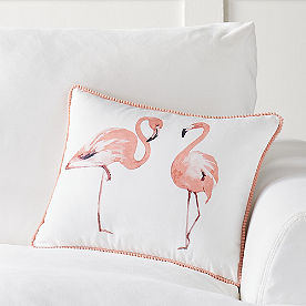 Flamingo Friends Palm Canyon Pillow