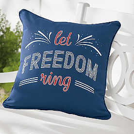 Freedom Patriotic Outdoor Pillow