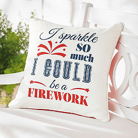 Sparkle Patriotic Outdoor Pillow