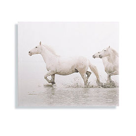 Beach Horses Follow the Leader Wall Art