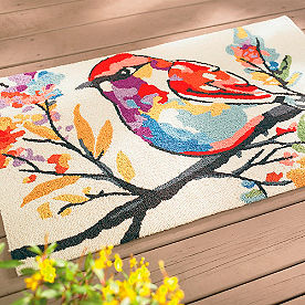 Watercolor Bird Outdoor Mat