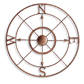 Iron Compass Wall Art