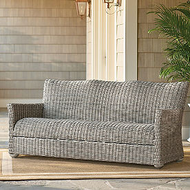 Simsbury Outdoor Wicker Sofa