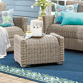 Simsbury Outdoor Wicker Ottoman