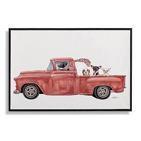 Dogs in Trucks Wall Art