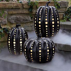 Black Illuminated Pumpkin