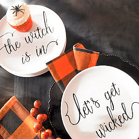 Witchy Word Plates, Set of Four