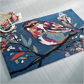 Autumn Songbird Hooked Door Mat