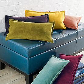 Stella Velvet Lumbar Pillow