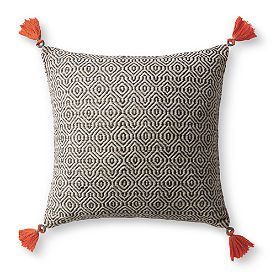 Bodega Gray Geo Pillow