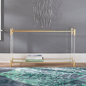 Aria Gold & Acrylic Console Table