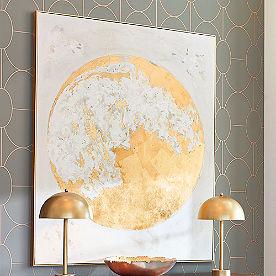 Gold Moon Wall Art