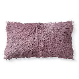 Mongolian Goat Fur Lumbar Pillow