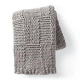 Chunky Knit Grid Throw