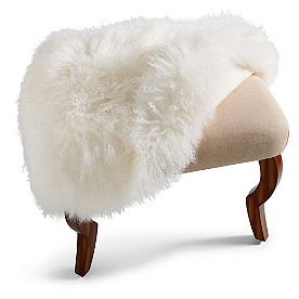 Mongolian Sheep Fur Cover for 24in Scarlett Bench