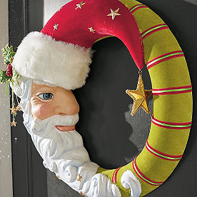 Santa Moon Wreath