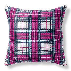 Alina Outdoor Pillow Plaid