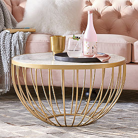 Soleil Marble Top Cocktail Table