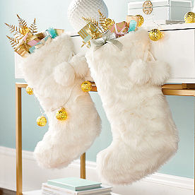 White Faux Fur Stocking