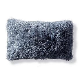Mongolian Fur Lumbar Decorative Pillow