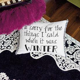 When It Was Winter Pillow