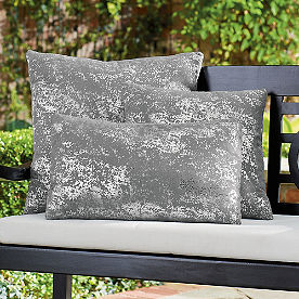 Outdoor Metallic Splatter Pillow