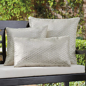 Outdoor Metallic Geometric Pillow